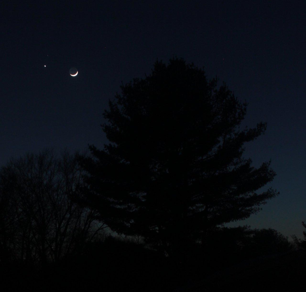 Venus, Mars, Moon