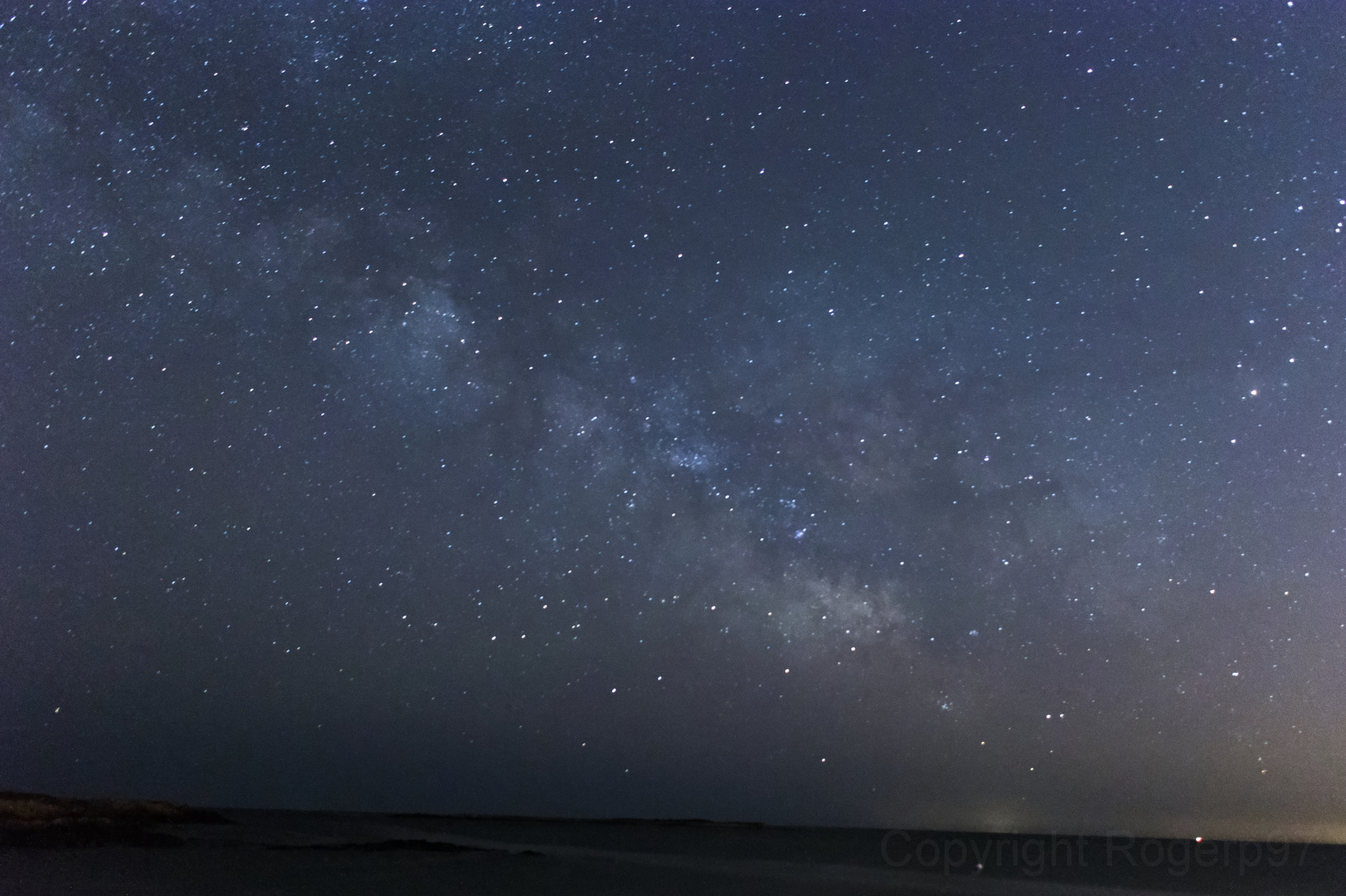 Milky Way over Pebble Beach