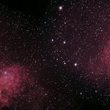 IC405-410, the Tadpole and Flaming Star Nebulae