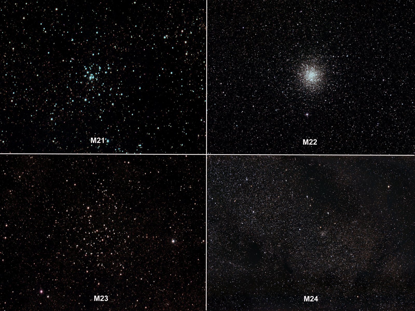 Messiers 21-24