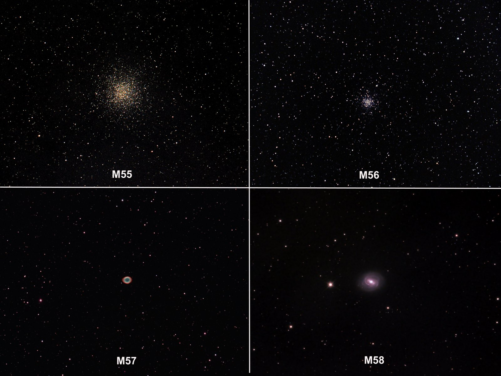 Messiers 55-58