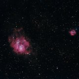 M8, the Lagoon,  M20, the Trifid Nebulae