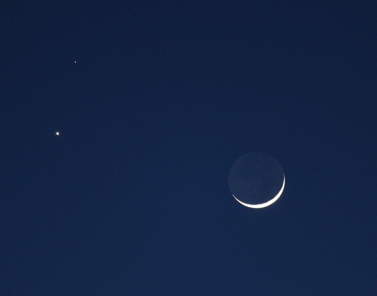Moon, Venus, Mars, 2nd exposure