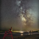 Milky Way with Deck Chair, Good Harbor Beach