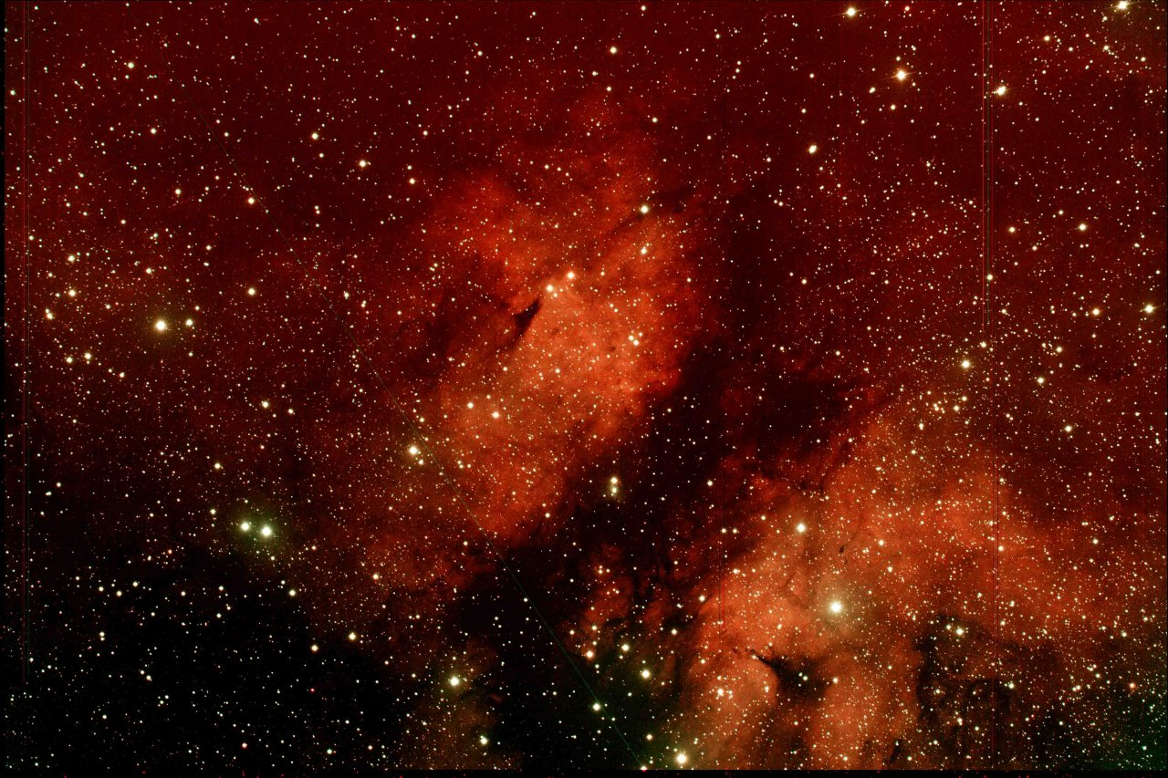 Ic 1318b, the Butterfly