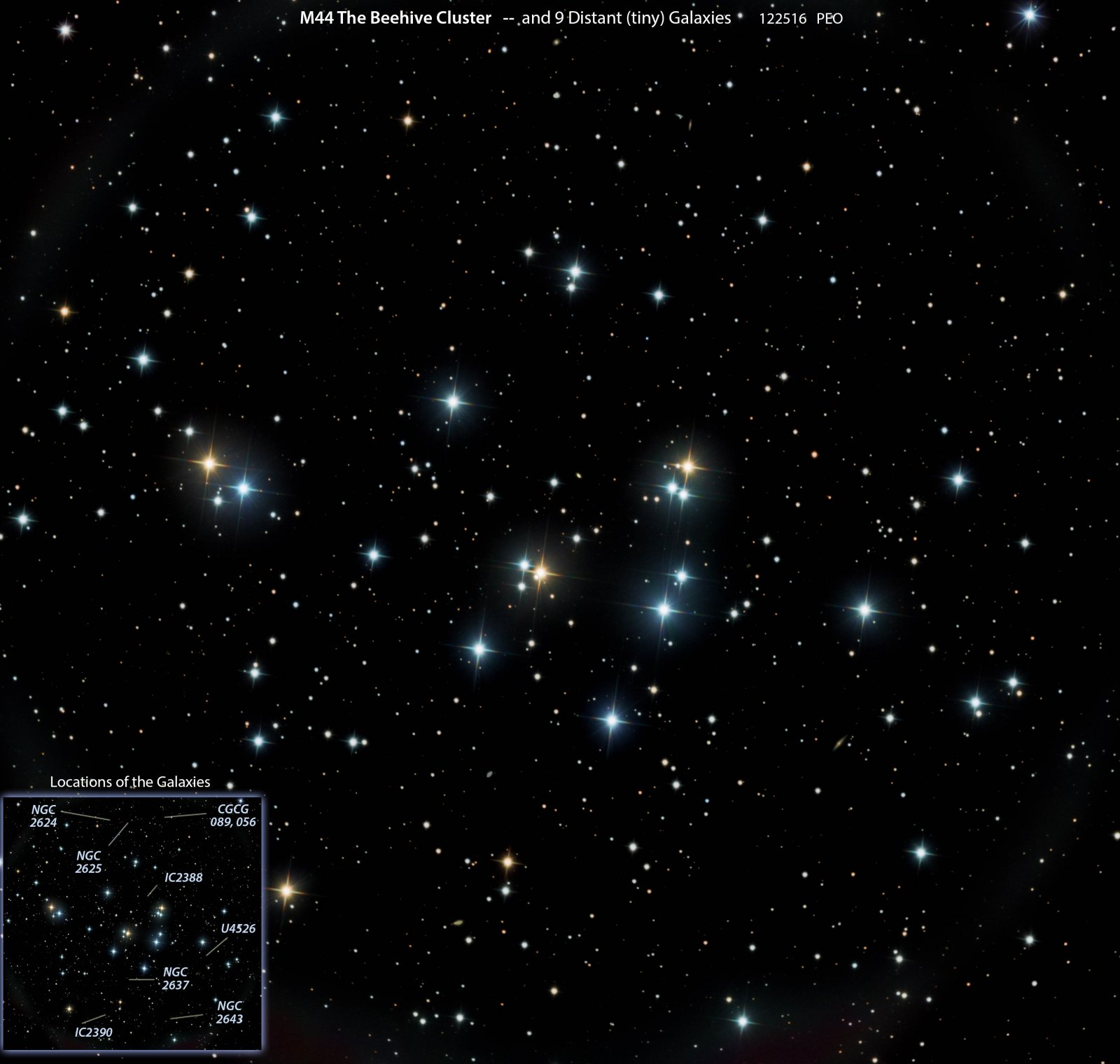 M44, the Beehive Cluster, with Galaxies