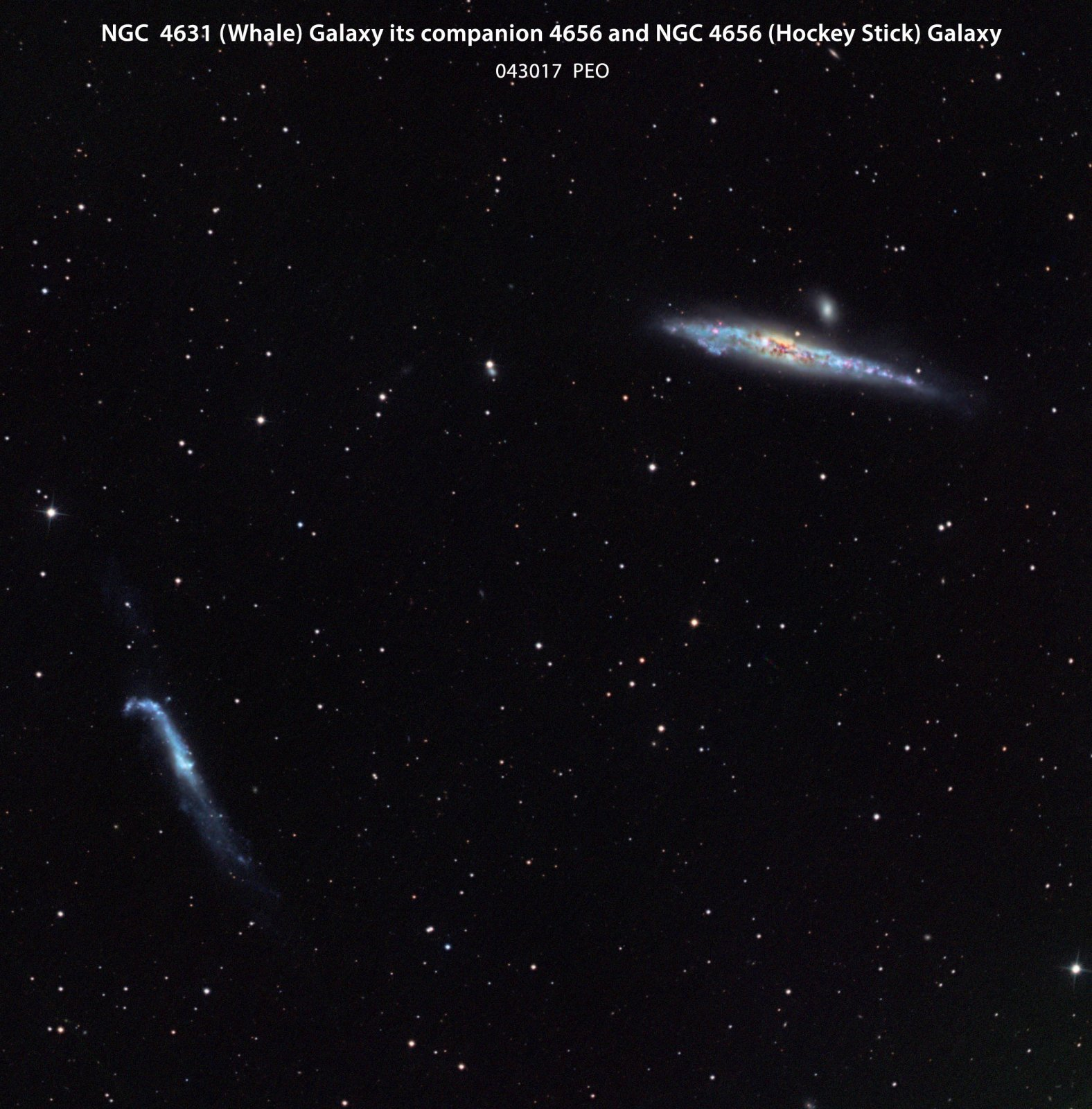 The Whale galaxy and the Hockey Stick