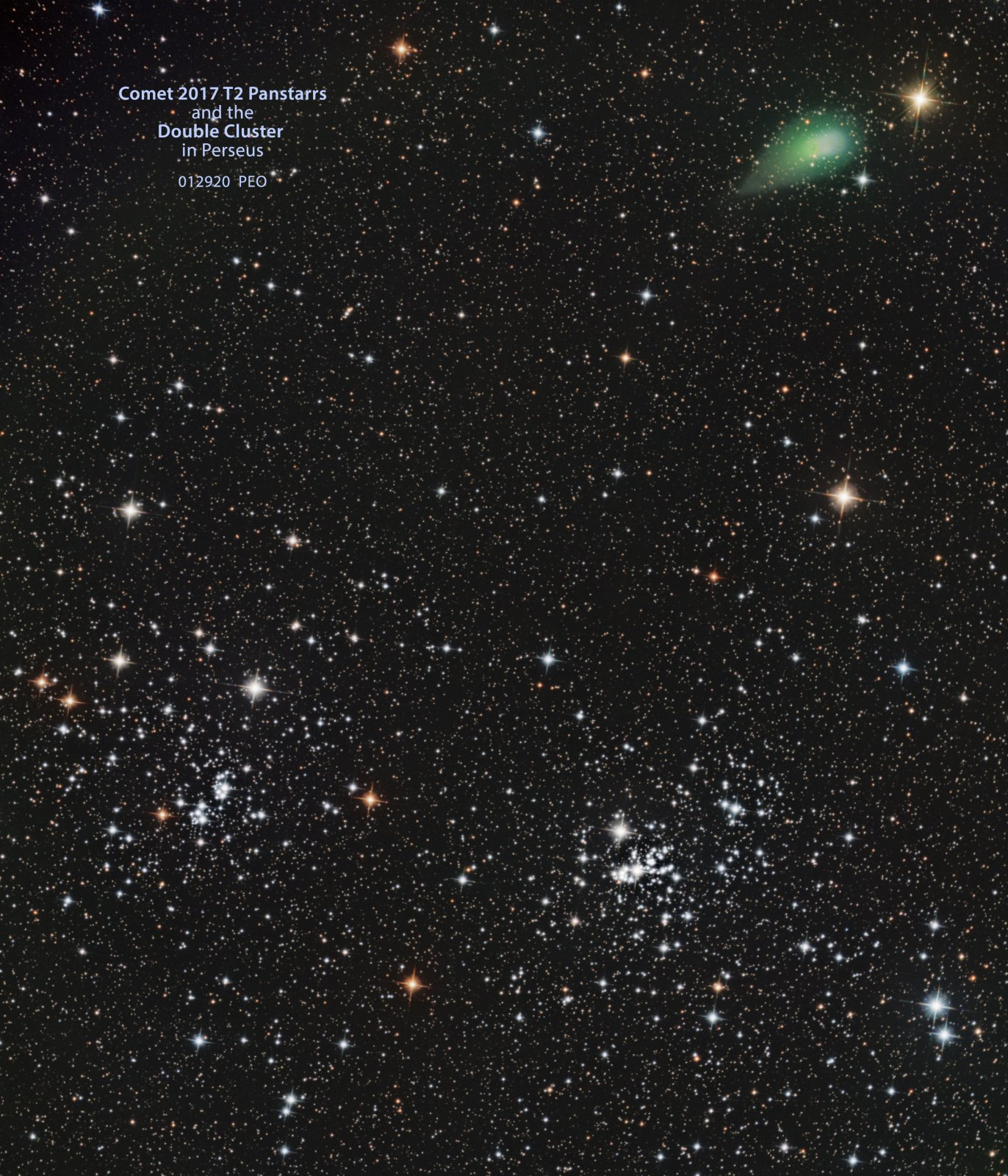 Panstarrs and the Double Cluster