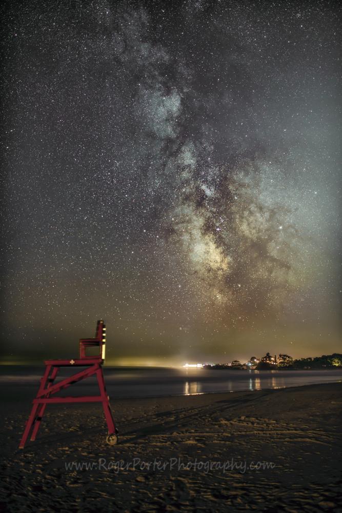 Milky Way with Deck Chair, Good Harbor Beach