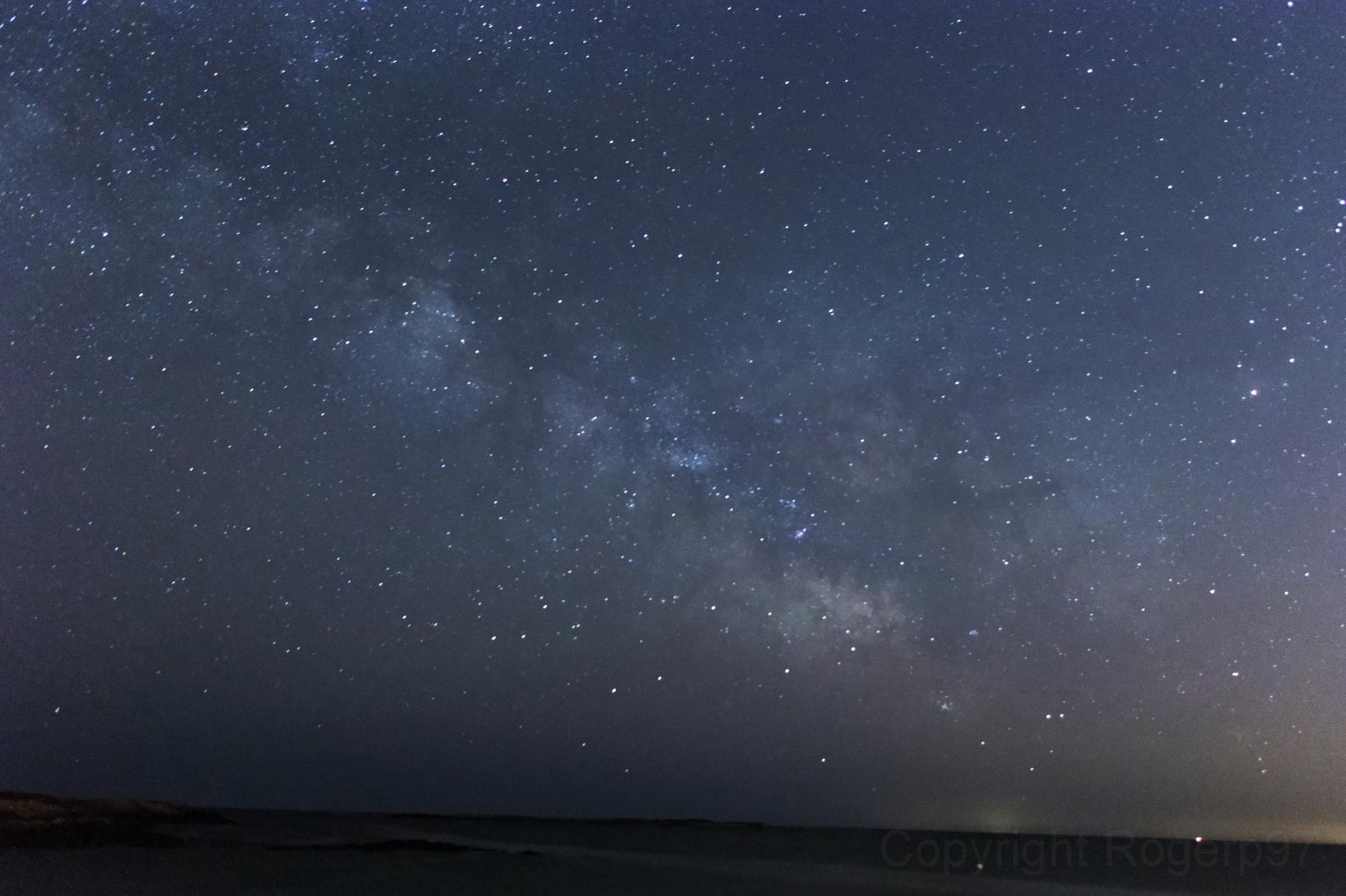 Milky Way over Pebble Beach