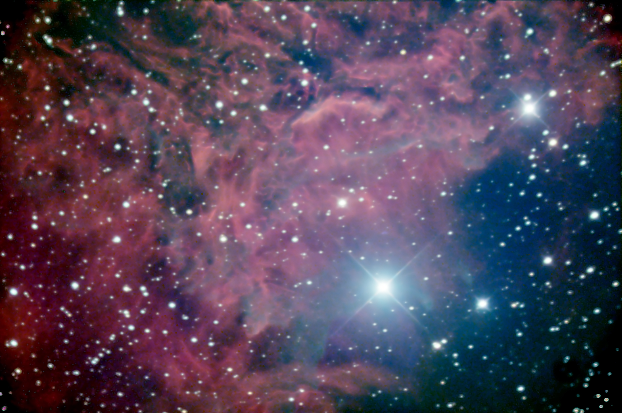IC405, the Flaming Star Nebula