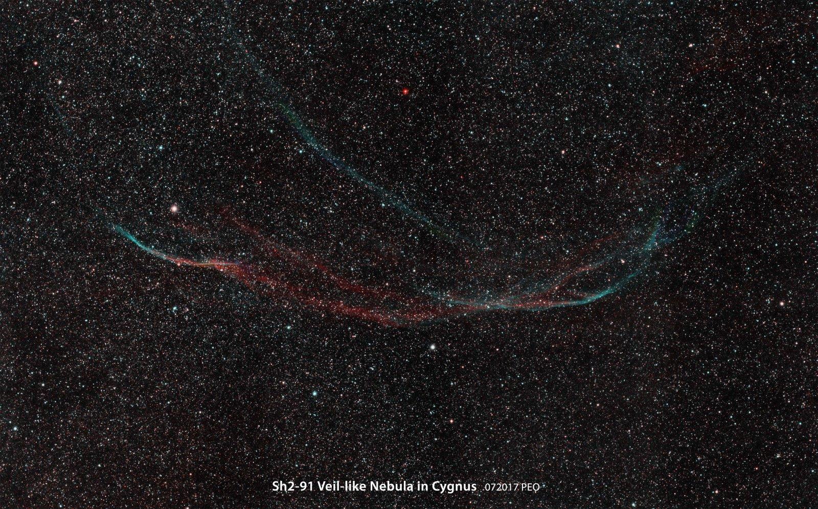 Second Veil Nebula in Cygnus