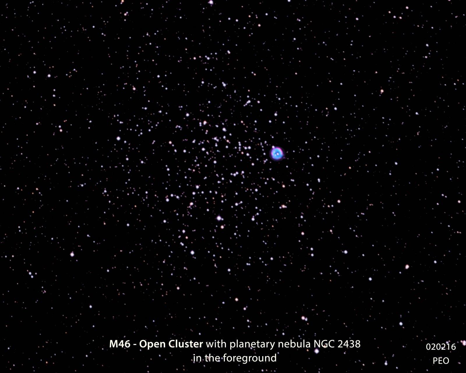 M46, with nebula