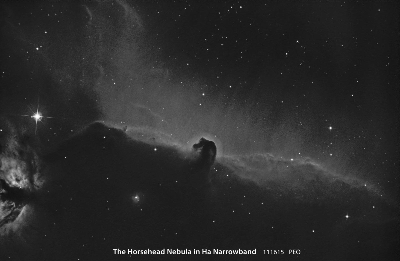 Horsehead Nebula in Ha